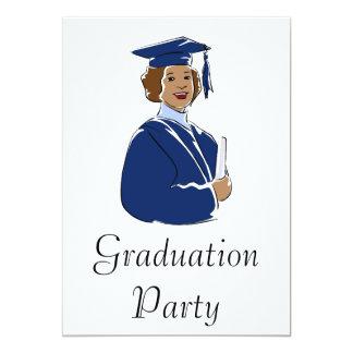 Graduating Woman 13 Cm X 18 Cm Invitation Card