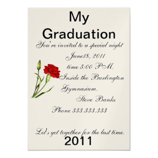 graduation 13 cm x 18 cm invitation card