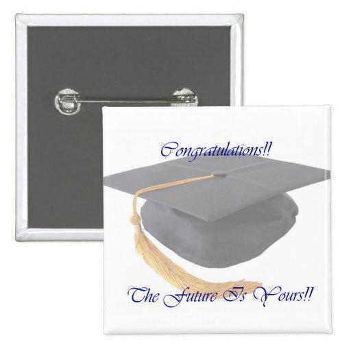 Graduation 15 Cm Square Badge