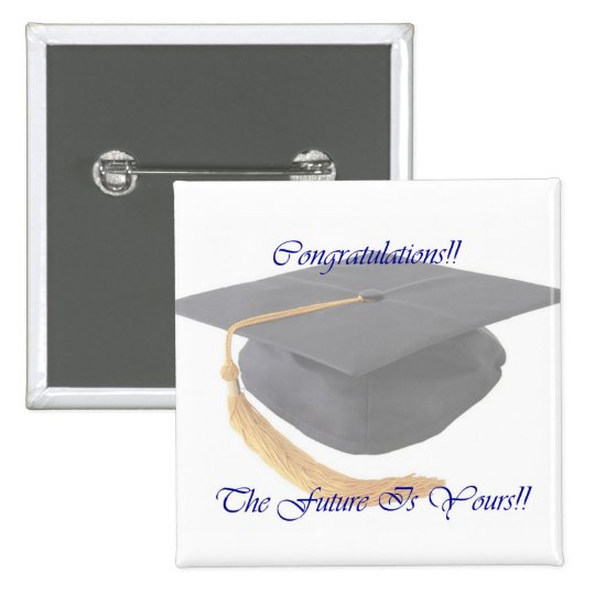 Graduation 15 Cm Square Badge