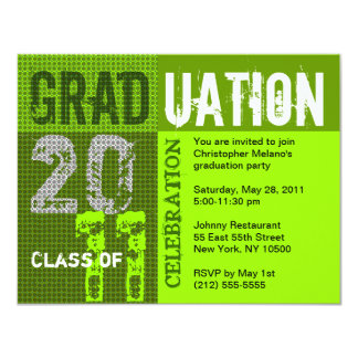 Graduation 2011 Party Invitation Green