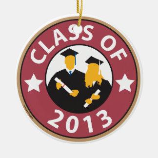 Graduation 2013 round ceramic decoration