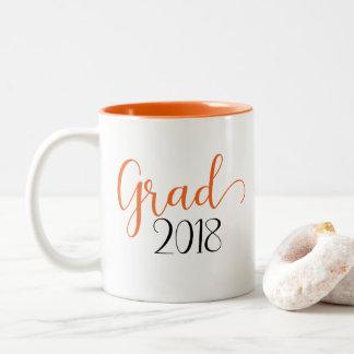 Graduation 2018 orange mug