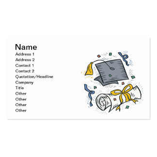 Graduation 3 Double-Sided standard business cards (Pack of 100)