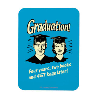 Graduation: 4 Years, 2 Books Rectangular Photo Magnet
