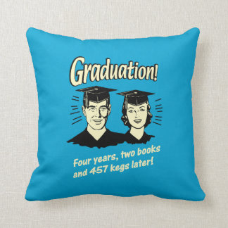 Graduation: 4 Years, 2 Books Throw Pillow