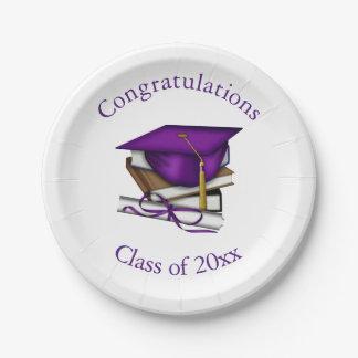 Graduation 7 Inch Paper Plate