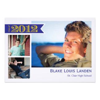 Graduation Announcement Class of 2012 Blue