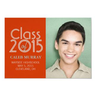 "Graduation Announcement | Class of Year |ortur 3.5"" X 5"" Invitation Card"