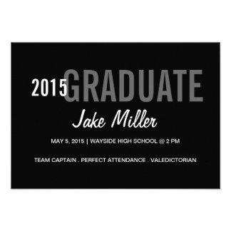 Graduation Announcement Invite yr Photo blgrey