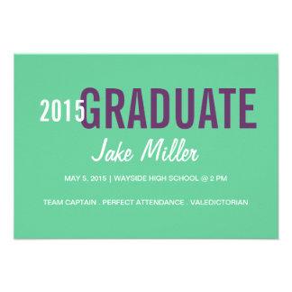 Graduation Announcement Invite yr Photo green
