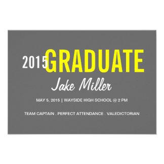 Graduation Announcement Invite yr Photo grey