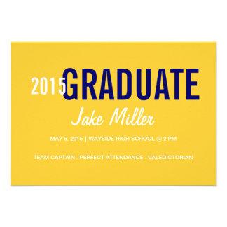 Graduation Announcement Invite yr Photo yellow