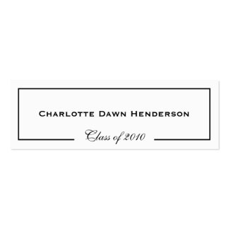 Graduation announcement name card border Class of Business Card Template