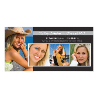 Graduation Announcement Photo Cards |  Black