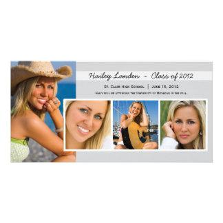 Graduation Announcement Photo Cards |  Gray