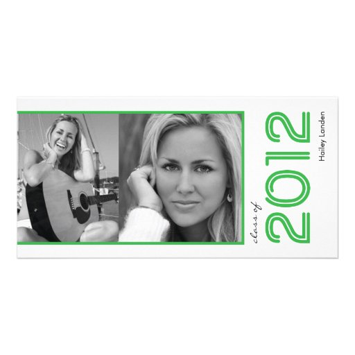 Graduation Announcement Photo Cards |  Green