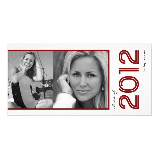 Graduation Announcement Photo Cards |  Maroon