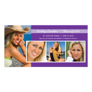 Graduation Announcement Photo Cards |  Purple