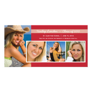 Graduation Announcement Photo Cards |  Red