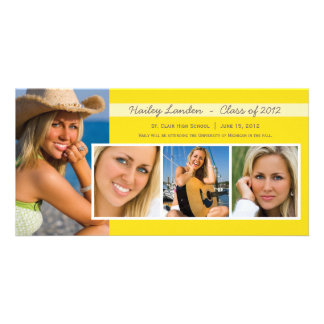 Graduation Announcement Photo Cards |  Yellow