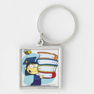 Graduation Asian Girl Keychains