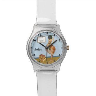 Graduation, Baby Sandhill Crane, Name Wristwatch