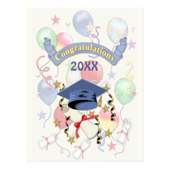 Graduation Balloons 2015 Postcard