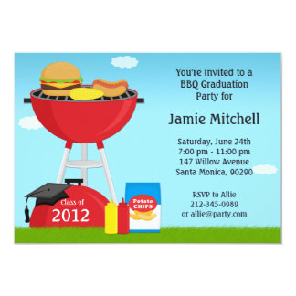 Graduation BBQ Party Invitation Class of 2013