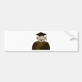 Graduation Bear Bumper Stickers