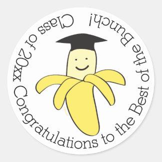 Graduation Best of the Bunch Top Banana Round Sticker