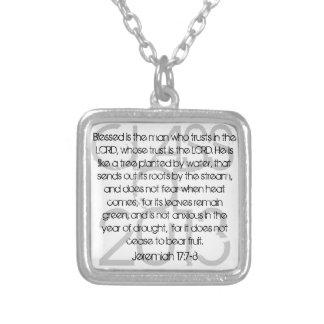 Graduation bible verse Jeremiah 17:7-8 necklace