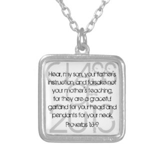 Graduation bible verse Proverbs1:8-9 necklace