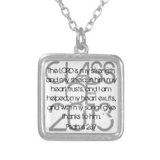Graduation bible verse Psalms 28:7 necklace