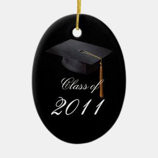 Graduation Black Personalized Christmas Ornament