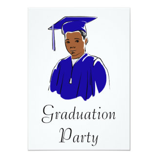 Graduation Boy 13 Cm X 18 Cm Invitation Card