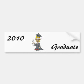Graduation Boy Car Bumper Sticker