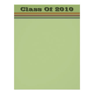 Graduation brown green stripes flyer