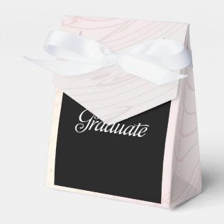 Graduation Cap and Diploma Black & Silver 3D Look Favour Boxes