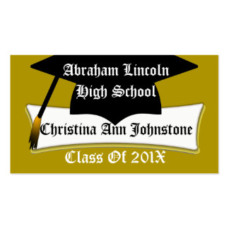 Graduation Cap And Diploma Graduate's Custom Card Pack Of Standard Business Cards