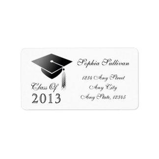 Graduation Cap Class of 2014 Name and Address Address Label