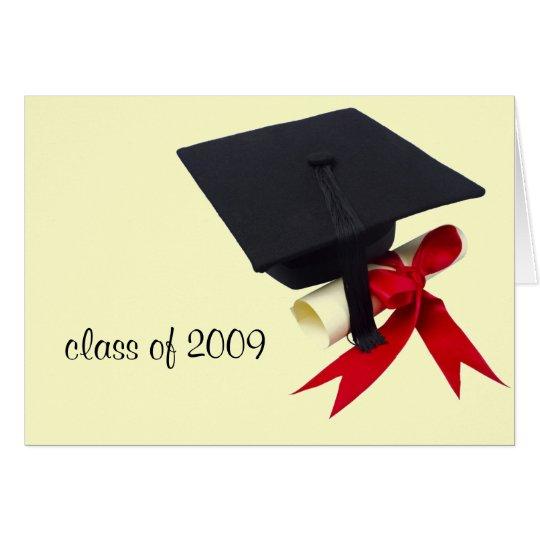 Graduation cap colour, class of 2009 card