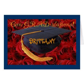 Graduation Cap-Customize Name of Graduate Greeting Card