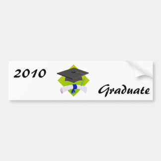 Graduation Cap & Diploma Bumper Sticker