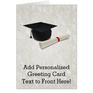 Graduation Cap Diploma Customizable Card