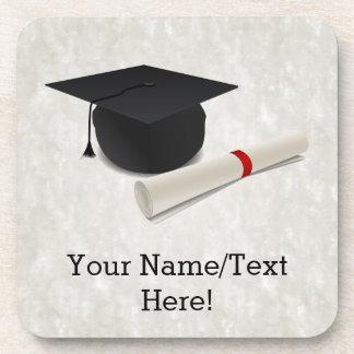 Graduation Cap Diploma Customizable Coaster