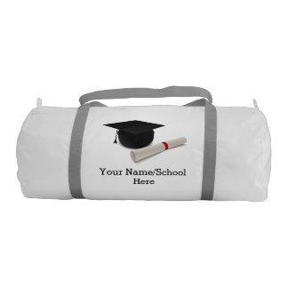 Graduation Cap Diploma Customizable Gym Duffel Bag