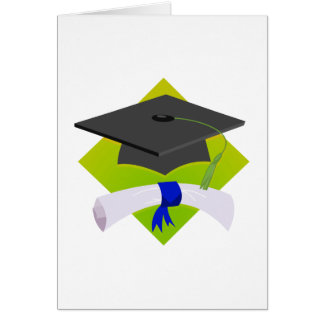 Graduation Cap & Diploma Greeting Card