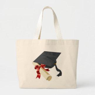 Graduation Cap & Diploma Large Tote Bag
