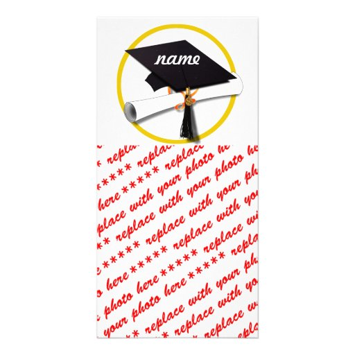 Graduation Cap & Diploma Photo Card